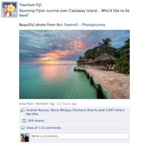 Facebook is a great way to share your photo's