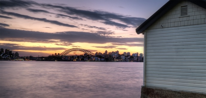 the shed by the harbour